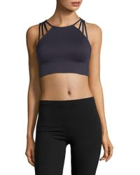 Betsey Johnson - Strappy Extended Sports Bra - Lyst