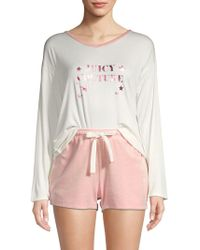 636e4d70e Juicy Couture - 2-piece Tee   Shorts Lounge Set - Lyst