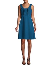 Maggy London - Ruffle-trimmed Fit-&-flare Dress - Lyst