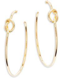 Kenneth Jay Lane - Knotted Hoop Earrings - Lyst