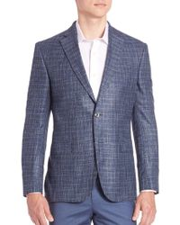 Saks Fifth Avenue - Samuelsohn Classic-fit Check-print Wool, Silk & Linen Sportcoat - Lyst