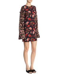 Mother Of Pearl - Francis Floral Silk Dress - Lyst
