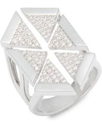 Noir Jewelry - Multi-triangle Cubic Zirconia Ring - Lyst