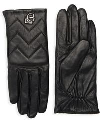 Karl Lagerfeld - Chevron Quilted Gloves - Lyst