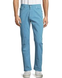 Robert Talbott - Solid Cotton-blend Trousers - Lyst
