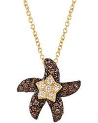Le Vian - 14k Honey Goldtm, Vanilla And Chocolate Diamonds® Starfish Pendant Necklace - Lyst