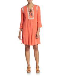 Scrapbook - Anise Lace-insert Dress - Lyst