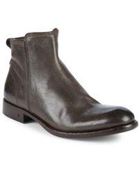 John Varvatos - Freeman Leather Boots - Lyst