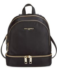 Karl Lagerfeld - Classic Zippered Backpack - Lyst