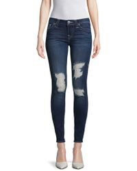 True Religion - Distressed Super Skinny Jeans - Lyst
