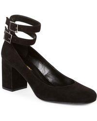 Saint Laurent - Babies Suede Court Shoes - Lyst