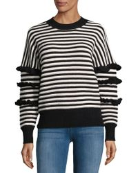 English Factory - Striped Ruffle Jumper - Lyst