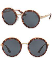 Incotex - 54mm Round Metal-trim Sunglasses - Lyst