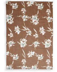 Valentino - Floral Cotton & Silk Square Scarf - Lyst