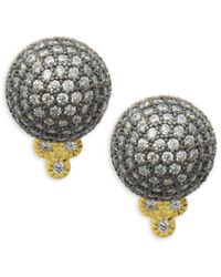 Freida Rothman - Pavé Crystal Ball Stud Earrings - Lyst