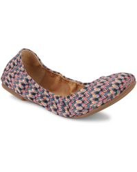Lucky Brand - Elysia Leather Ballet Flats - Lyst