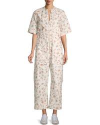 Isabel Marant - Printed Cotton Jumpsuit - Lyst