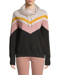 Betsey Johnson - Chevron Colorblock Hoodie - Lyst