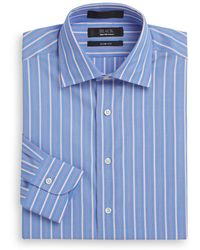 Saks Fifth Avenue - Slim-fit Striped Cotton Dress Shirt - Lyst