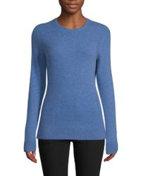 Saks Fifth Avenue - Crewneck Cashmere Sweater - Lyst
