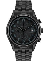 Citizen - Men's Eco-drive Chronograph Black Stainless Steel Bracelet Watch 42mm Ca0625-55e - Lyst
