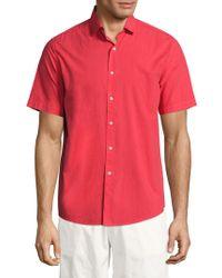 Vilebrequin - Short Sleeve Cotton Shirt - Lyst