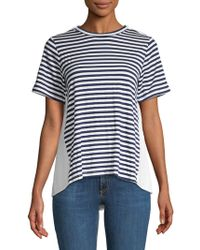 CLU - Striped Colorblock Tee - Lyst