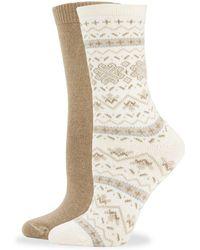 Hue - Two-pack Fair Isle Socks - Lyst