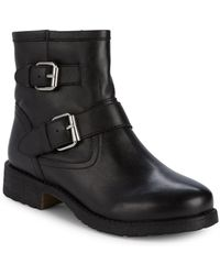 Steve Madden - Morty Leather Buckle Booties - Lyst