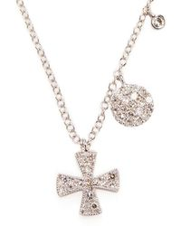 Meira T - Cross Diamond And 14k White Gold Pendant Necklace - Lyst
