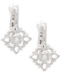 Saks Fifth Avenue - White Topaz Drop Earrings - Lyst