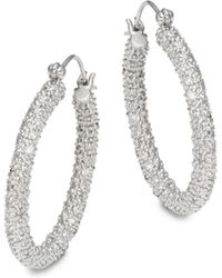 Effy - Diamond & 14k White Gold Earrings - Lyst
