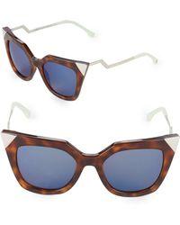 Fendi - Zig-zag 52mm Cat Eye Sunglasses - Lyst