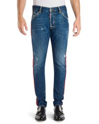 DSquared² - Classic Kenny Skinny-fit Distressed Jeans - Lyst