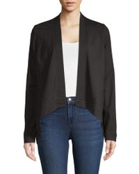 Donna Karan - New York Flyaway Open Front Jacket - Lyst