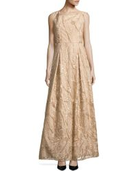 Karl Lagerfeld - Embroidered Floral A-line Gown - Lyst