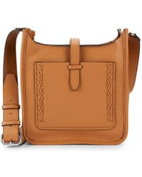 Rebecca Minkoff - Boxed Pebbled-leather Crossbody Bag - Lyst
