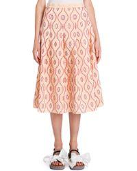Marni - Taffeta Pleated Skirt - Lyst