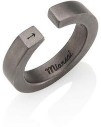 Miansai - Rhodium-plated Sterling Silver Ipsum Ring - Lyst
