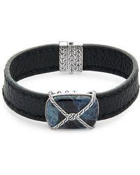 John Hardy - Batu Classic Labradorite, Sterling Silver & Leather Bracelet - Lyst