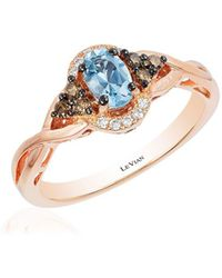 Le Vian - 14k Strawberry Gold Sea Blue Aquamarine Vanilla Diamonds & Chocolate Diamonds Chocolatier Ring - Lyst
