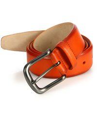Saks Fifth Avenue - Hives Burnished Leather Belt - Lyst