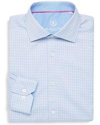 Bugatchi - Shaped Fit Printed Cotton Dress Shirt - Lyst
