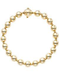 Saks Fifth Avenue - 14k Yellow Gold Polished Bead Single Strand Bracelet - Lyst