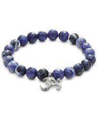 Bavna - Sodalite Bead & Diamond Bracelet - Lyst