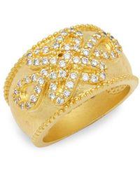 Freida Rothman - Goldtone Cubic Zirconia Knot Ring - Lyst