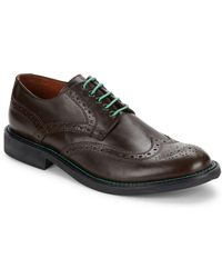 Bugatchi - Arezzo Wingtip Toe Leather Shoes - Lyst