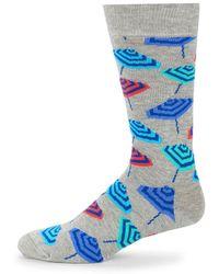 Happy Socks - Beach Umbrella Crew Socks - Lyst