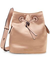 Kendall + Kylie - Micro Satin Drawstring Bucket Bag - Lyst