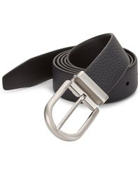 Giorgio Armani - Textured Leather Belt - Lyst